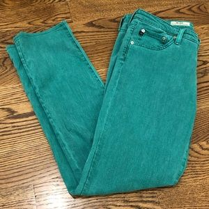AG Green Jeans - the Stilt
